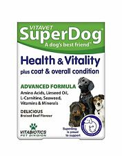 Vitabiotics SuperDog Health And Vitality 30 Chewable Tablets
