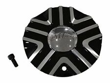 Milanni 461 Stealh Black Machine Center Cap 461-1770-PLASTIC-CAP