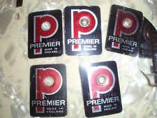 5x Premier Badge 70er Jahre ,Schlagzeug,Drums,Snaredrum