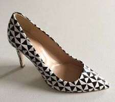 $278 NEW JCrew Falsetto Printed Leather Pumps Womens 6.5 Fits 7 Stiletto Heels