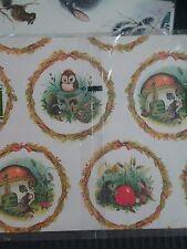 Vintage Norcross 4 PKS NOS Gift Wrap Bear Lamb Snow Owl Deer Snail Squirrel more