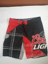 COORS LIGHT Mens Size 36 Board Shorts (Issues)