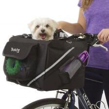 More details for bicycle bike pet carrier front handlebar basket dog puppy cat travel frame bag