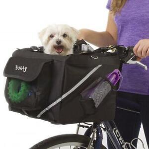 Bicycle Bike Pet Carrier Front Handlebar Basket Dog Puppy Cat Travel Frame Bag