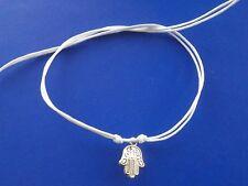 KARMASTRING white string hamsa tie on bracelet anklet luck amulets talisman