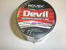 Rovex Devil Clear Monofilament Line 30lb 490m 0.50mm Sea fishing / Decorations
