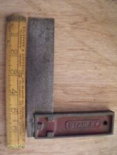 """More details for vintage stanley no. 12, 5"""" all steel carpenters square made in usa"""