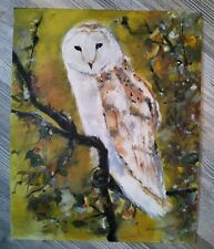 "○•Original Ölbild,Ölgemälde,Oilpaint,Öl,Porträt""Schleiereule,Owl,Eule"