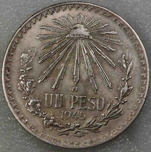 Mexico 1 Peso 1945 Silver  [1754