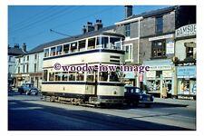 gw0398 - Sheffield Tram no 254 at Wicker in 1959 - photograph