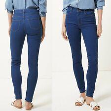 Neues AngebotM&s Mid Rise Skinny Leg Jeans ~ Größe 10 Regular ~ Medium Indigo