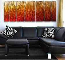 Modern Abstract Metal Wall Art Painting Sculpture Home Decor Large Flame Design