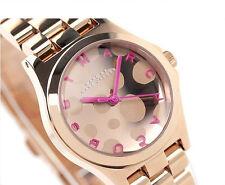 NWT Marc Jacobs Women's Watch Rose Gold Pink MINI HENRY GLOSSY POP MBM3271 $250