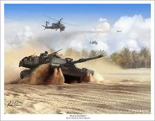 M1A1 Abrams Tank Military Art Print