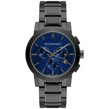 NEW BURBERRY MENS THE CITY CHRONOGRAPH GUNMETAL WATCH - BU9365 - RRP £595