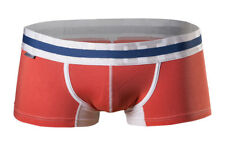 "CROOTA Mens Underwear, Boxer Briefs, Low Rise, Trunks, Orange, XL (Waist 35-37"")"