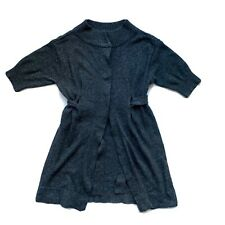Axcess Liz Claiborne Short Sleeve Long Line 6% Angora Blend Cardigan Size Medium