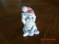 "Dreamsicles ""Baby Santa"" Angel Figurine,Cast Art Ind.,Ceramic,Mini,Signed, 2"" Tll"