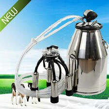 304 SS Portable Dairy Cow Milking Machine Milker Bucket Tank Barrel Large 25L CE