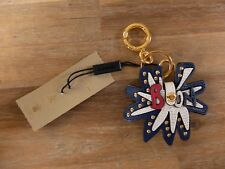 """BURBERRY """"Boom"""" leather charm keyring with padlock authentic - NWT"""