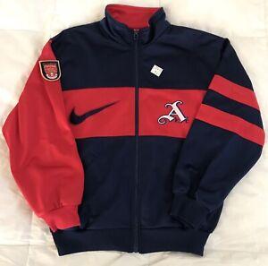1995 1996 Nike Arsenal FC Vintage Youth Jacket Gunners Soccer Football Bergkamp