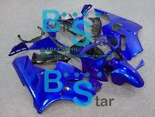 All Blue Fairings + Tank Cover Bodywork Set kit Kawasaki Ninja ZX12R 00-01 14 D4