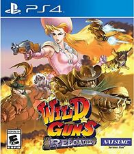 Wild Guns: Reloaded [PlayStation 4 PS4, Natsume, 1-4 Player Shooter] NEW