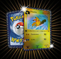 Surfer Pikachu Custom Pokemon Card in Holo