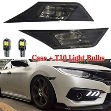 FOR 2016-2020 HONDA CIVIC SMOKED SIDE MARKER LIGHT Case Cover with T10 BULBS