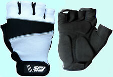 WHITE GEL PADDED FJS CYLING / CYCLE / BIKE MTB BICYCLE GLOVES S,M, L,XL