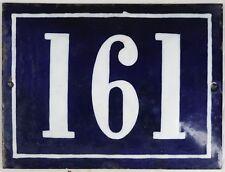 Large old French house number 161 door gate plate plaque enamel steel metal sign