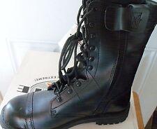 "Men Military Boot Army Tactical Combat Boot 11"" Captoe Leather Zipper Black Sz9"