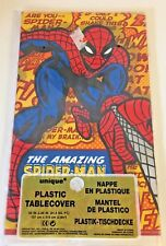 1999 Collectible The Amazing Spider Man Nos Plastic Tablecover Marvel #12863 Fun