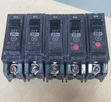 Ge 20 Amp Circuit Breaker Single Pole Type Thqp Ge Tqp120 Lot Of 5