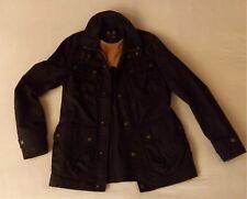 MUSTO black waxed jacket Jacke im Biker Motorrad Barbour Style schwarz L 50-52
