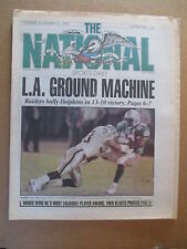 THE NATIONAL SPORTS DAILY NEWSPAPER LA RAIDERS BEAT DOLPHINS 11/20 1990