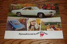 Original 1967 Plymouth Barracuda Sales Brochure 67 Sports Convertible