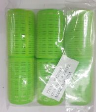 Cameo Self Hold Green Hair Rollers - Large Size - 6 Pack