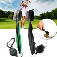Golfschläger-Reinigungsbürste Doppelseitig Rillenreiniger mit B6T1 einziehb D9Z0