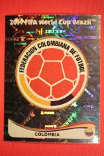 Panini BRASIL 2014 N. 184 BADGE COLOMBIA WITH BLACK BACK TOPMINT!!