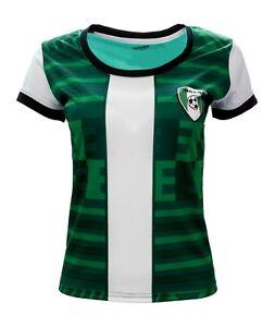 Arza Sports Nigeria Fan Jersey For Women Short Sleeve Color Green
