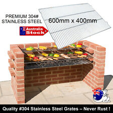 304 GRADE STAINLESS STEEL COOKING GRILL RACK MESH 60 x 40CM BRICK BBQ