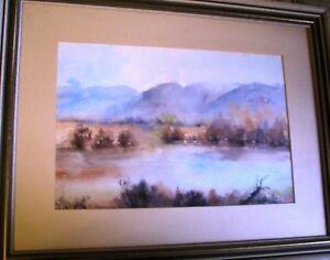 "Noted Australian Artist Nora Jacklin's original watercolour ""Misty Morning"""