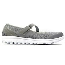 Propet TravelActiv Mary Jane Silver Light Casual Shoes W5103 Womens Size 10 Wide