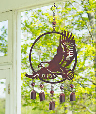 Unique Wind Chimes Outdoor Soaring Eagle Metal Garden Front Porch Patio Decor