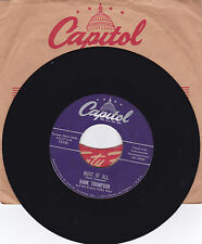 HANK THOMPSON-CAPITOL 3188 COUNTRY 45RPM MOST OF ALL B/W SIMPLE SIMON  VG++