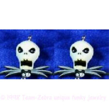 Funky JACK SKELLINGTON EARRINGS Gothic Nightmare B4 Christmas Costume Jewelry-B