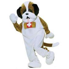 Adult St. Bernard Rescue Dog Costume Mascot Plush Fur