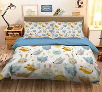 3D Fox Head ZHUA1916 Bed Pillowcases Quilt Duvet Cover Set Queen King Zoe