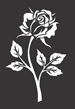 Rose Flower 528 Die Cut Vinyl  Window Decal/Sticker for Car/Truck